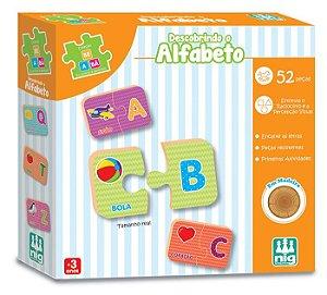 Descobrindo o Alfabeto de A ao Z em Madeira - Pedagógico Alfabetização - NIG