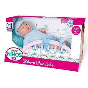 Boneco Ninos Reborn Pesadinho Menino - 44cm - Cotiplás
