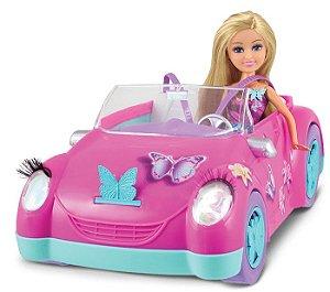 Boneca Funville Sparkle Girlz Articulada Fada das Borboletas + Carro - DTC