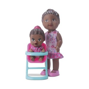 Boneca My Little Collection Hora Da Papinha - Negra - Divertoys
