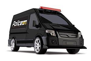 Carrinho De Polícia C/ Giroflex - 35cm - Van Police - Omg