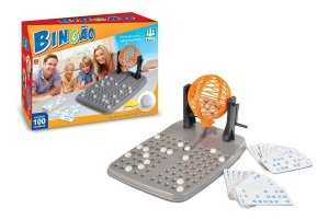Jogo De Bingo Bingão C/ 100 Cartelas E Globo Giratório - Nig