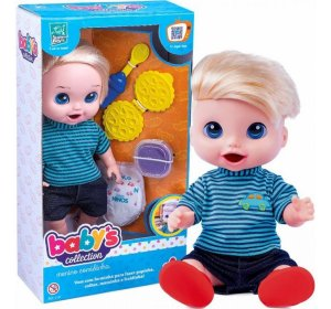 Boneco Babys Collection Come E Faz Caquinha - Supertoys