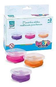3 Massinha P/ Comidinha Bonecas - Reutilizável - Supertoys