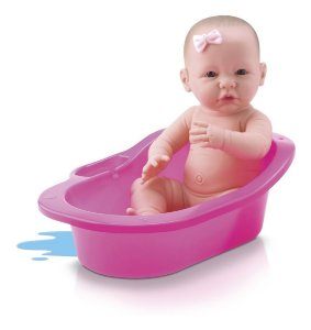 Boneca Bebê Diver New Born C/ Banheirinha - 35cm - Divertoys