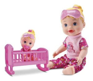 Boneca My Little Collection Brincando De Pijama - Divertoys