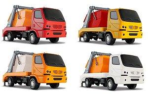Caminhão Urban Tira Entulho - C/ Caçamba - Roma Brinquedos