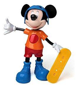 Boneco Mickey Radical Fala 5 Frases C/ Skate - 24cm - Elka