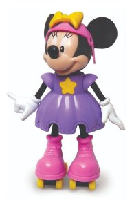 Boneca Minnie Patinadora Fala C/ Patins 26cm - Elka