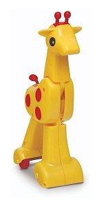 Brinquedo Para Bebê Gina Girafa Corre-corre C/ 22cm - Elka