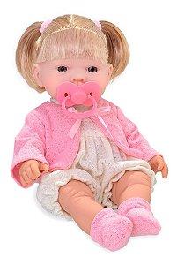 Boneca Bebê Bebezinho Real Faz Xixi Gêmeos - Menina  Roma