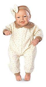 Boneca Bebê Real Expressões- Alegria C/ Certidão 48cm  Roma