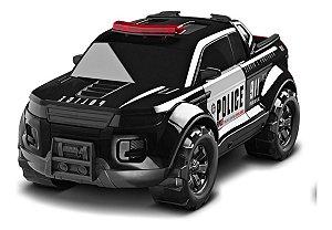 Carrinho Pick-up Force Polícia C/ Giroflex 40cm - Roma