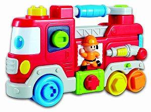 Carrinho De Bombeiro C/ Som E Luz Para Bebês - Zoop Toys