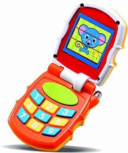 Celular Infantil P/ Bebês Baby Phone C/ Luz Som - Zoop Toys