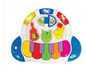 Piano Teclado Musical Bandinha Show C/ Som Luz - Zoop Toys