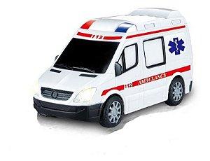 Carrinho Ambulância Controle Remoto C/ Luz Som 20,5cm - Zoop