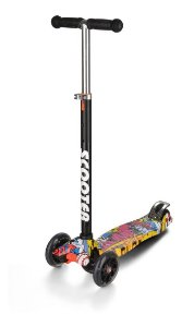 Patinete Scooter Grafitado - Regulável - Suporta 80kg - Zoop Toys