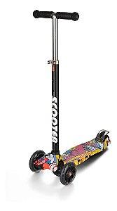 Patinete Scooter Grafitado - Regulável - Suporta 80kg - Zoop Toys