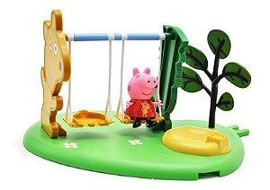 Balanço Peppa Pig Hora De Brincar + Personagem Peppa - Dtc