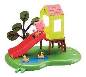 Escorregador Peppa Pig Hora De Brincar + Personagem - Dtc