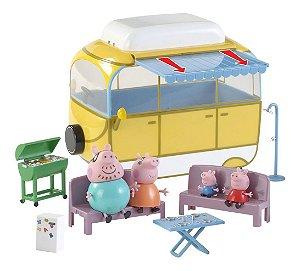 Van De Acampar Acampamento Peppa Pig + Família Pig - Dtc