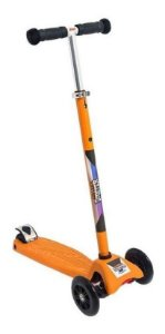 Patinete Scooter Laranja - Regulável - Suporta 80kg - Zoop