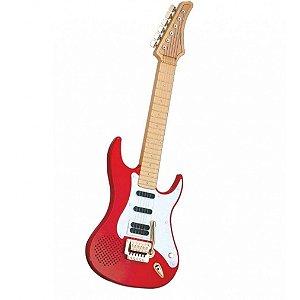 Guitarra Eletrônica Infantil 56cm Com Cordas De Aço - Dtc