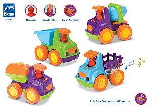 Caminhão Infantil Baby Truck - C/ Som E Luz- Roma Brinquedos