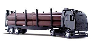 Caminhão Bitrem Diamond Florestal Tora 60cm- Roma Brinquedos