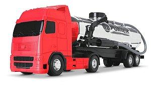 Caminhão Voyager Tanque Cromado - 43cm - Roma Brinquedos