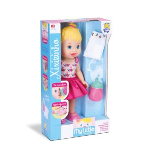 Boneca Baby My Little Colecttion Alive Faz Xixi - Divertoys