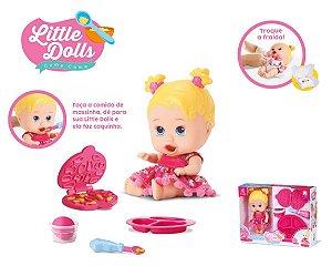 Boneca Bebê Little Dolls Come Come E Faz Caquinha- Divertoys