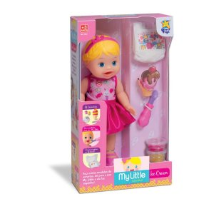 Boneca My Little Collection Ice Cream - Sorvete - Divertoys