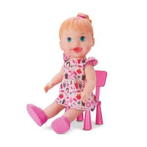 Boneca Baby My Little Alive Lanchinho Branca - Divertoys