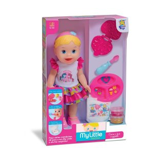 Boneca My Little Collection Come E Faz Caquinha - Divertoys