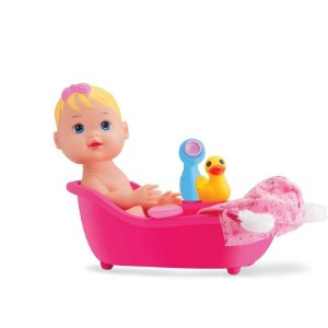 Boneca Baby My Little Collection Alive Banho - Divertoys