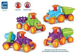 Trator Infantil Baby Truck - C/ Som E Luz - Roma Brinquedos