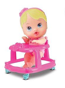 Boneca Bebê Baby Little Dolls Alive Andador - Divertoys