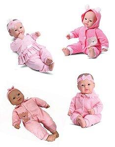 Boneca Bebês Coleção - Sons Bebê - Branca - 44cm - Divertoys