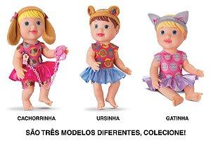 Coleção 3 Bonecas My Little Colecttion Bichinhos - Divertoys