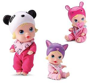 Kit 3 Bonecas Bebê Little Dolls Soninho Faz Xixi - Divertoys