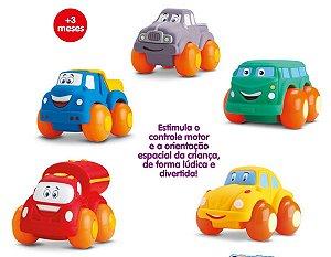 Coleção 5 Carrinhos Soft Cars - 3 Meses Ou Mais - Divertoys
