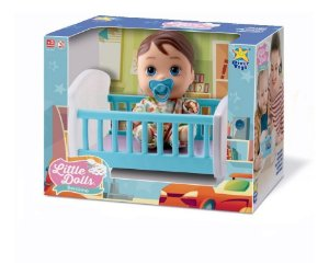 Boneca Baby Bebê Little Dolls Bercinho - Menino - Divertoys