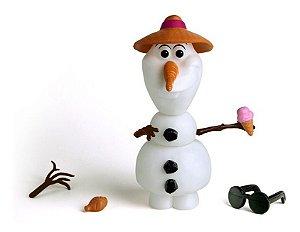 Boneco Olaf - Frozen - Monta E Desmonta - 14 Peças - Elka