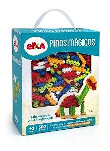 Pinos Mágicos - Blocos De Montar - C/ 500 Peças - Elka