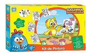 Kit De Pintura Galinha Pintadinha - Peças Em Madeira - Nig