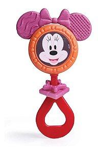 Mordedor E Chocalho Minnie Mouse Para Bebê - Elka