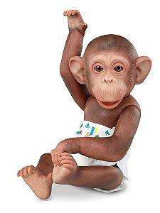 Boneco Caco Macaco - C/ Acessórios - 33cm Altura - Omg Kids