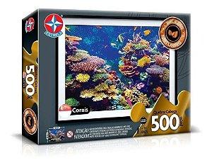Quebra Cabeça Dos Corais - C/ 500 Peças - Estrela